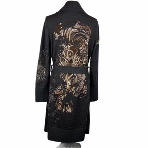 Jean Paul Gaultier Long Wool Embroidered Cardigan